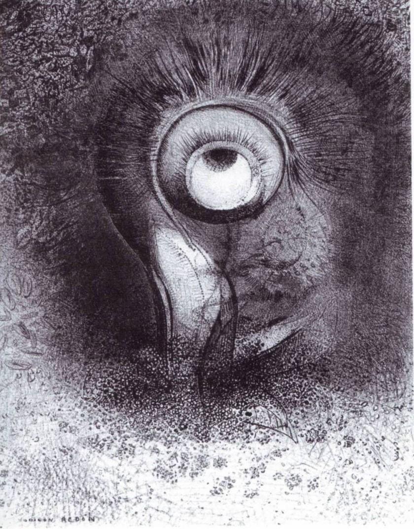 Odilon Redon - Les origines II y eut peut-être une vision première essayée dans la fleur (1883)