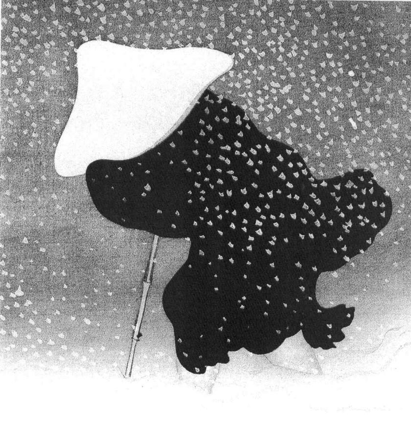 """Nieve en el campo"" de Kamisaka Sekka (1909)"