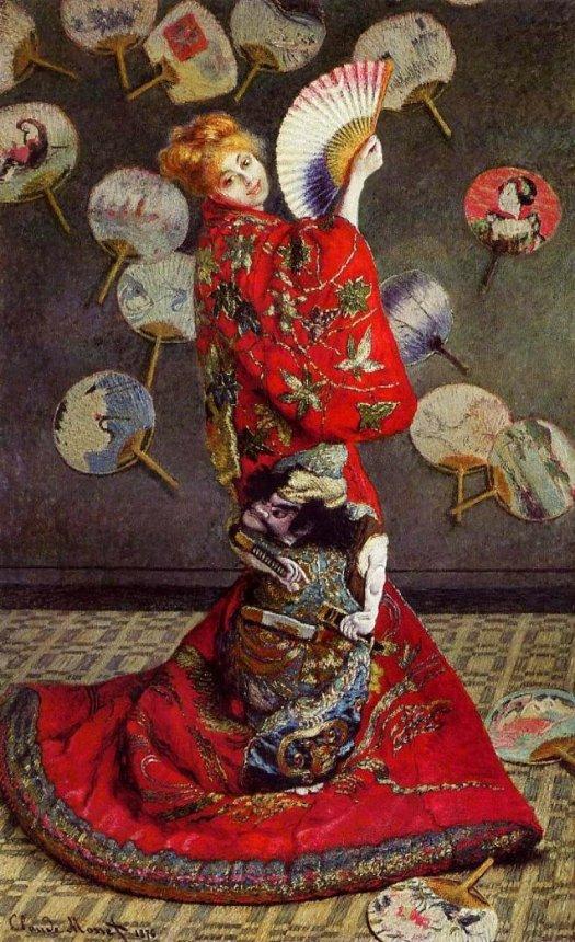 """""""La japonaise"""" de Claude Monet (1876)"""