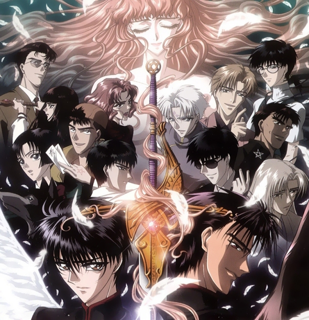 A la izquierda, los Dragones del Cielo; a la derecha los Dragones de la Tierra. En medio, la pesada de Kotori (siempre hay una en este tipo de series)
